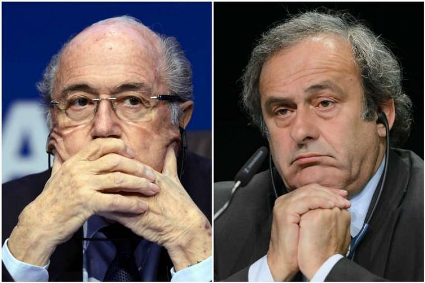 Fifa's ethics watchdog will give a verdict against Sepp Blatter (left) and Michel Platini with both facing lengthy bans over a suspect 2 million Swiss franc (S$2.8 million) payment.