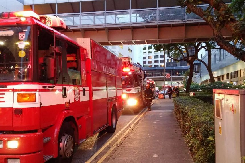 A fire broke out at the car park of Orchard Plaza on Dec 21, 2015. No one was injured.