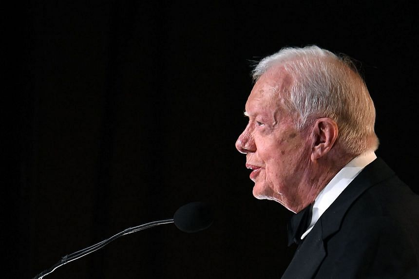President Jimmy Carter speaks at the annual ASCAP Country Music awards  in Nashville on Nov 2.