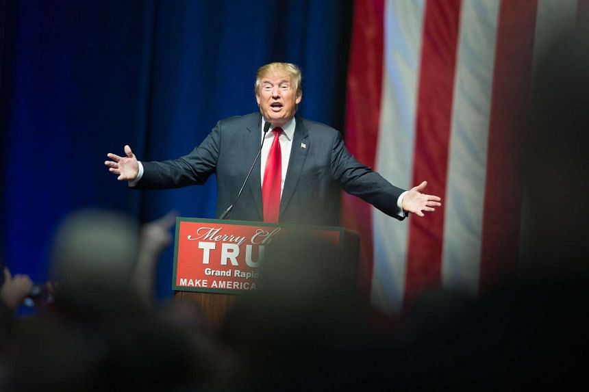 Republican presidential candidate Donald Trump speaking at a campaign rally in Grand Rapids, Michigan, on Dec 21, 2015.