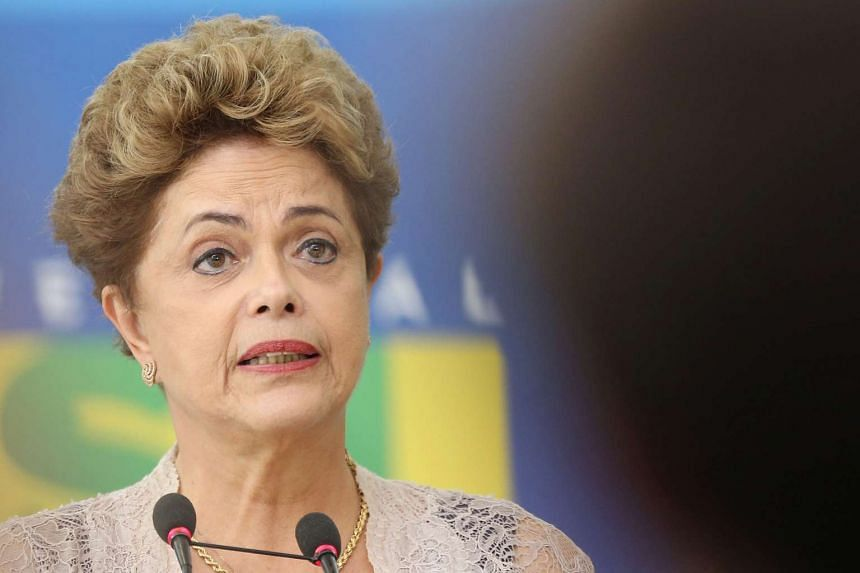 Brazilian President, Dilma Rousseff, speaks during the inauguration ceremony for the new Brazilian Treasury Minister, Nelson Barbosa, at Planalto Palace, Brasilia, Brazil, on Dec 21, 2015.