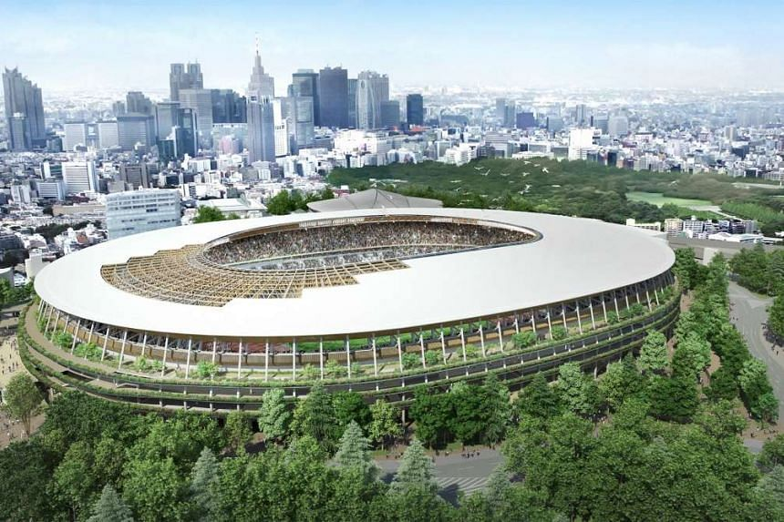 """The proposed new national stadium """"Design A"""" is seen in this undated handout picture released by Japan Sports Council and obtained by Reuters on Dec 21, 2015."""