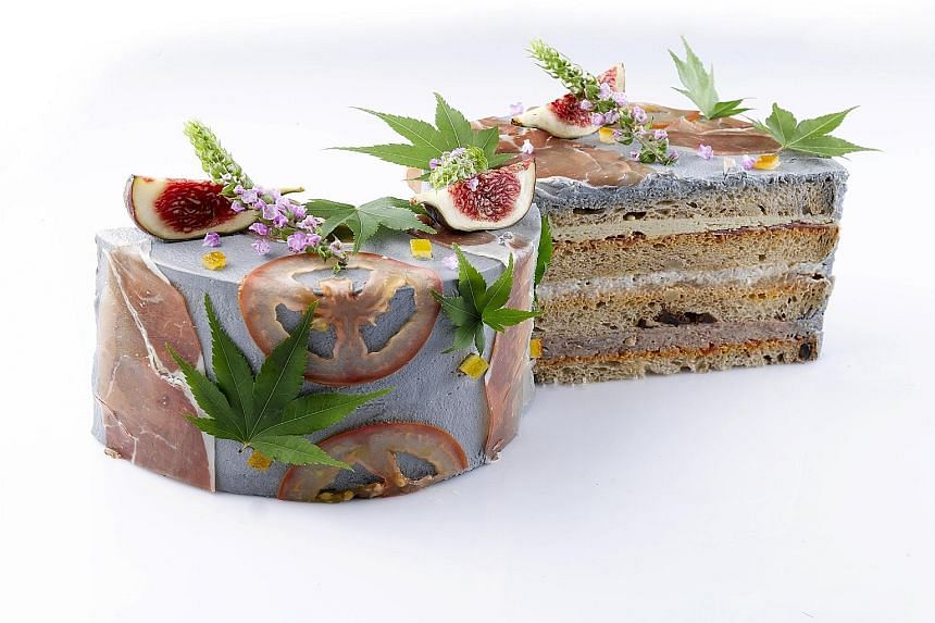 Healthier Christmas offerings on the market include Antoinette's La Foret savoury sandwich cake (above) .