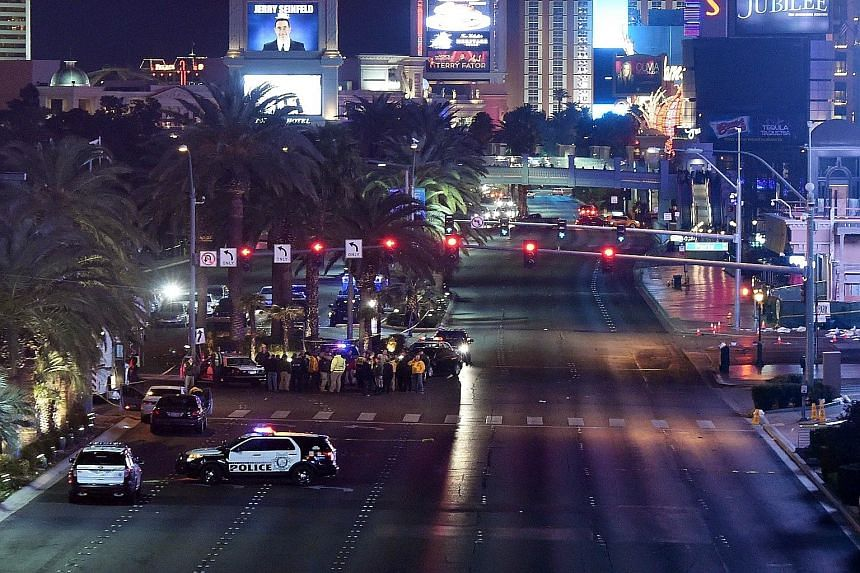 The Las Vegas Strip is shut down as police investigate the incident after a car mounted the kerb as many as three times, crashing into a group of pedestrians on the pavement. Ms Rabia Qureshi, a tourist from Wisconsin, told local broadcaster KSNV tha