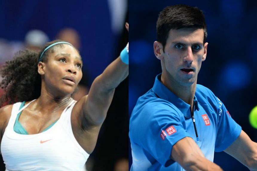 he International Tennis Federation named Serena Williams (left) and Novak Djokovic the players of the year.