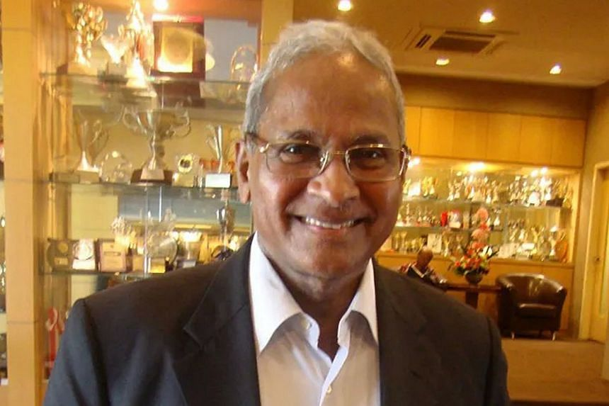 Former Asian football chief Dr Peter Velappan poses for a photograph at the Singapore Indian Association.