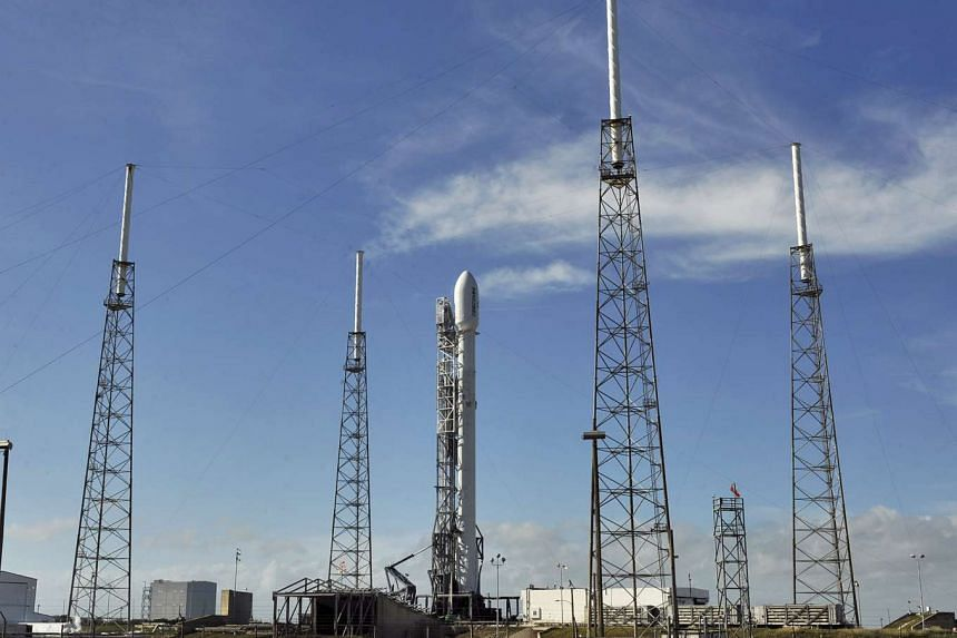 The SpaceX Falcon 9 rests on its launch pad at the Cape Canaveral Air Force Station in Cape Canaveral, Florida, Dec 21, 2015.