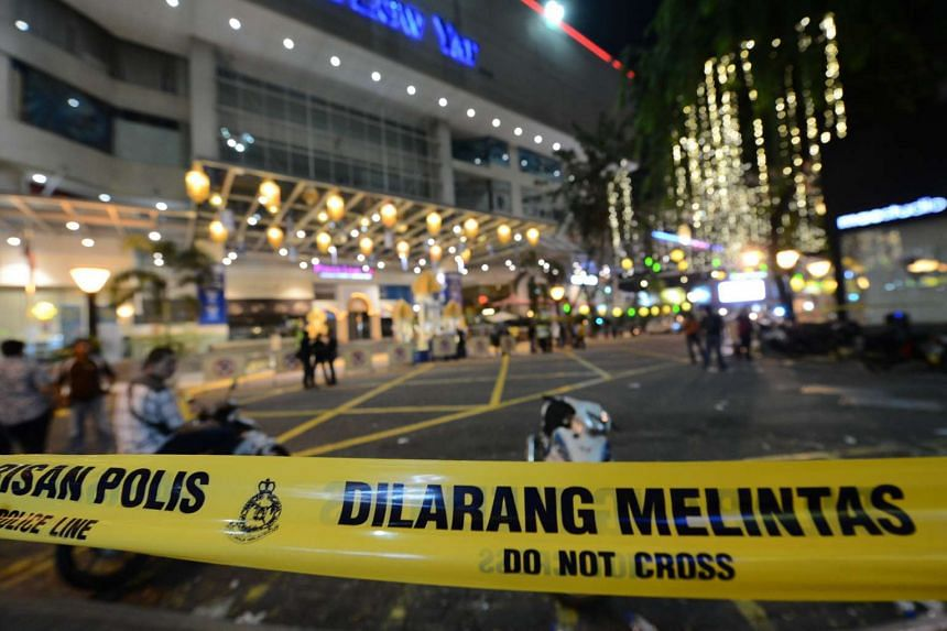 Aftermath of the brawl at Low Yat Plaza on July 12, 2015.