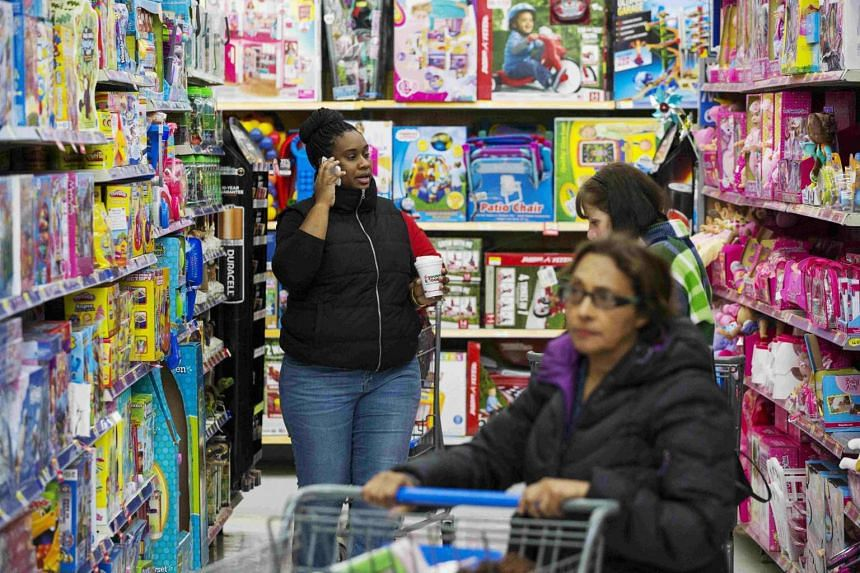 Shoppers at a Walmart store in Secaucus, New Jersey on Nov 11, 2015.