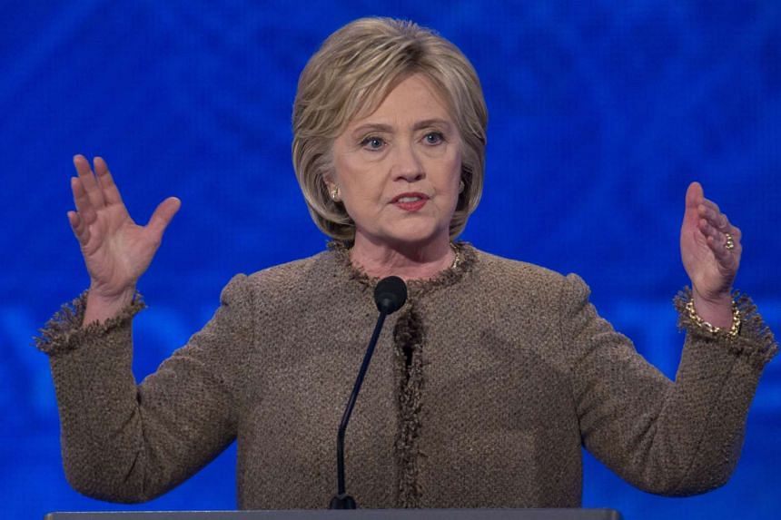 Hillary Clinton, former Secretary of State and 2016 Democratic presidential candidate, speaks during the Democratic presidential candidate debate at Saint Anselm College in Manchester, New Hampshire, US on Dec 19, 2015.
