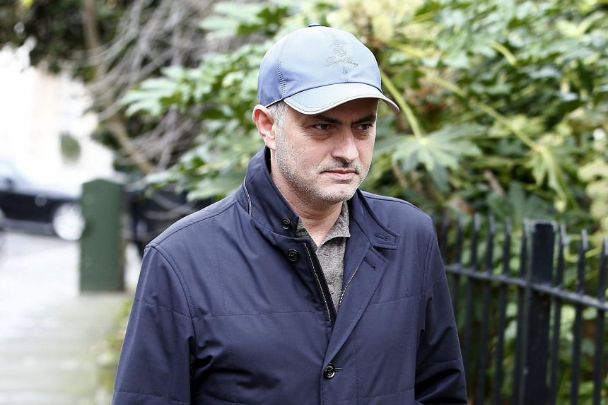 Jose Mourinho seen near his London home. The former Chelsea manager, who is still in England, is likely to be the next Manchester United manager should Louis van Gaal be given the sack. However, nothing is certain as no deal has yet to be agreed.
