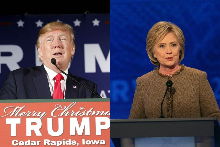 Republican presidential candidate Donald Trump (left) used a vulgarity to describe Hillary Clinton's (right) loss to Barack Obama in the 2008 Democratic presidential race.