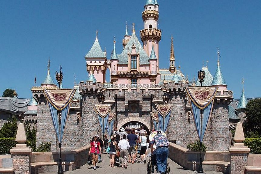 The Sleeping Beauty Castle at Disneyland in California.