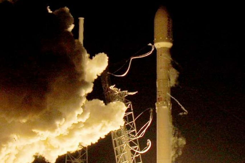 A remodelled version of the SpaceX Falcon 9 rocket lifting off on Monday at the Cape Canaveral Air Force Station on the launcher's first mission since a June failure. The latest mission was capped by delivery of all 11 satellites to orbit for custome