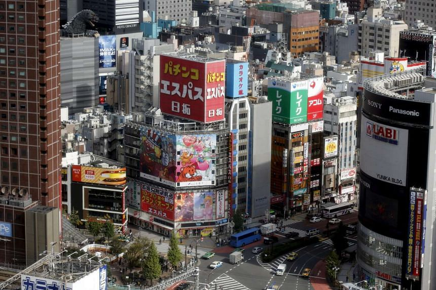 People in Tokyo's Ginza shopping district.