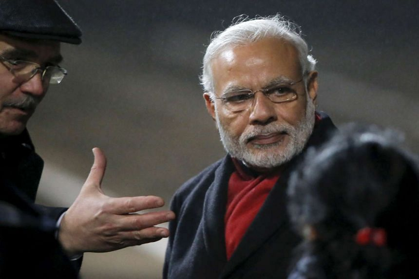 India's PM Narendra Modi arriving at Moscow's Vnukovo Airport, Russia, on Dec 23, 2015.