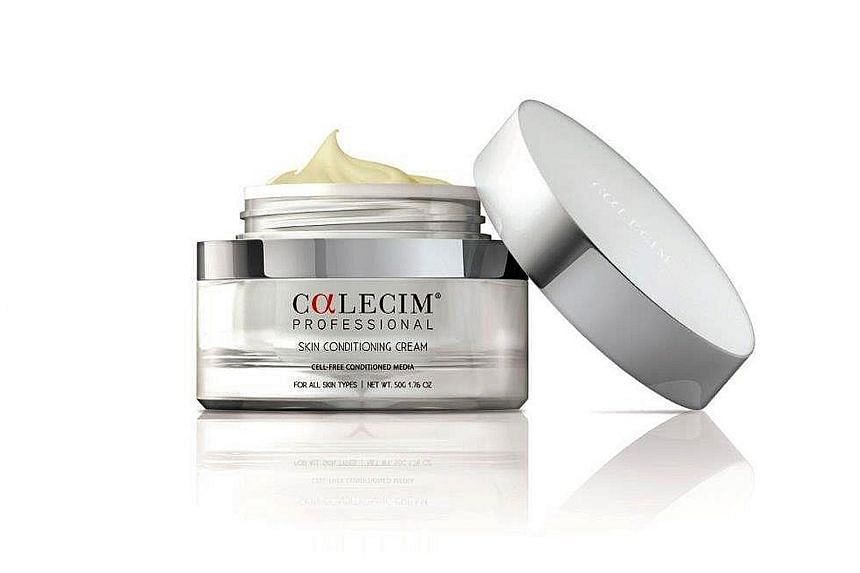 Calecim, the beauty arm of CellResearch Corp, co-founded by Dr Phan Toan-Thang, has a range of products, including skin conditioning cream (above), containing red deer umbilical cord-lining stem-cell extracts.