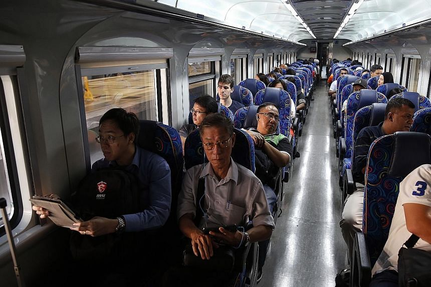 The Shuttle Tebrau train - which runs between Woodlands checkpoint and JB Sentral, with the trip taking just five minutes - has been particularly popular this festive season.