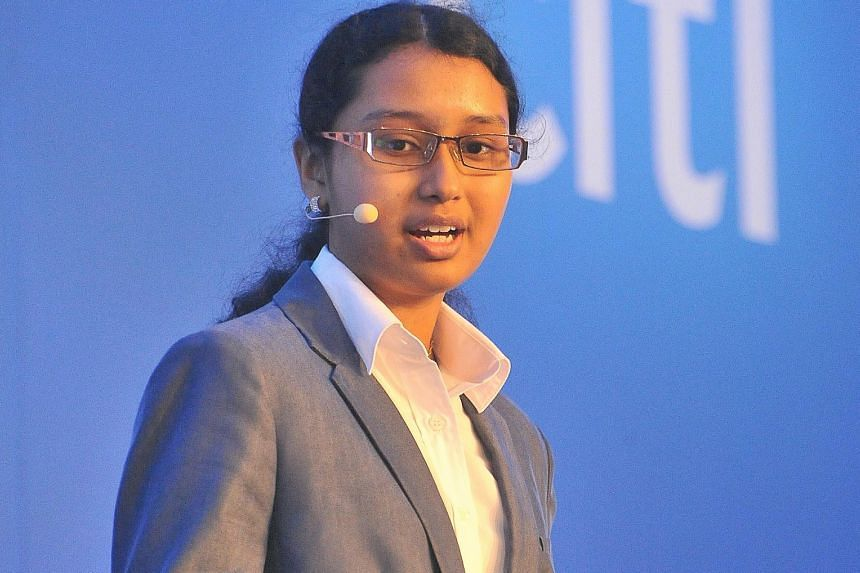 Anglo-Chinese Junior College student Nithyasri Manikandan's mobile app WePay won the top prize in the Most Imaginative Payment Solution category in the Citi Mobile Challenge Asia Pacific last month.