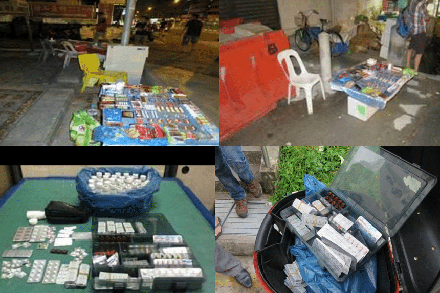 The $40,000 worth of illegal drugs seized in the joint operation by the authorities in Geylang on Wednesday (Dec 23).