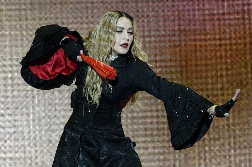 Madonna performing at a concert in Zurich earlier this month as part of her Rebel Heart Tour.