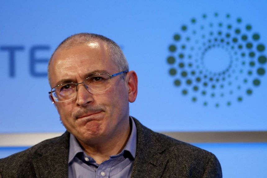 Former Russian tycoon Mikhail Khodorkovsky at an event in Britain in November 2015.