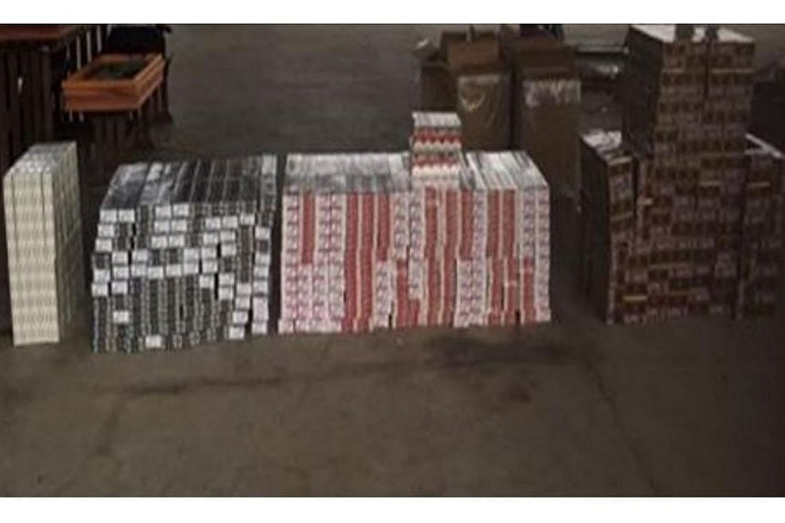 900 cartons of contraband cigarettes recovered.