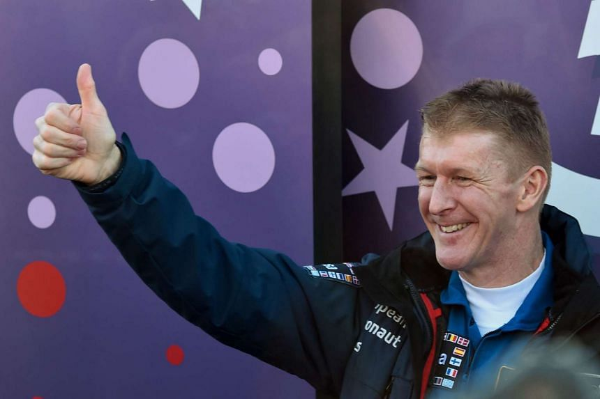 Astronaut Tim Peake during a sending-off ceremony at the Baikonur cosmodrome on Dec 15, 2015.