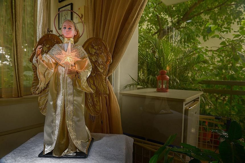 The angel from Australia that has wings that flap when it is turned on.