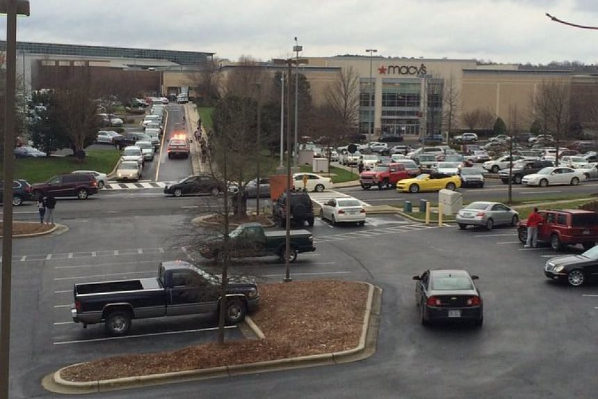 A photo of Northlake Mall posted to Twitter by WBTV News.