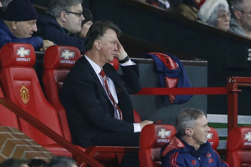 Manchester United manager Louis van Gaal during a match.
