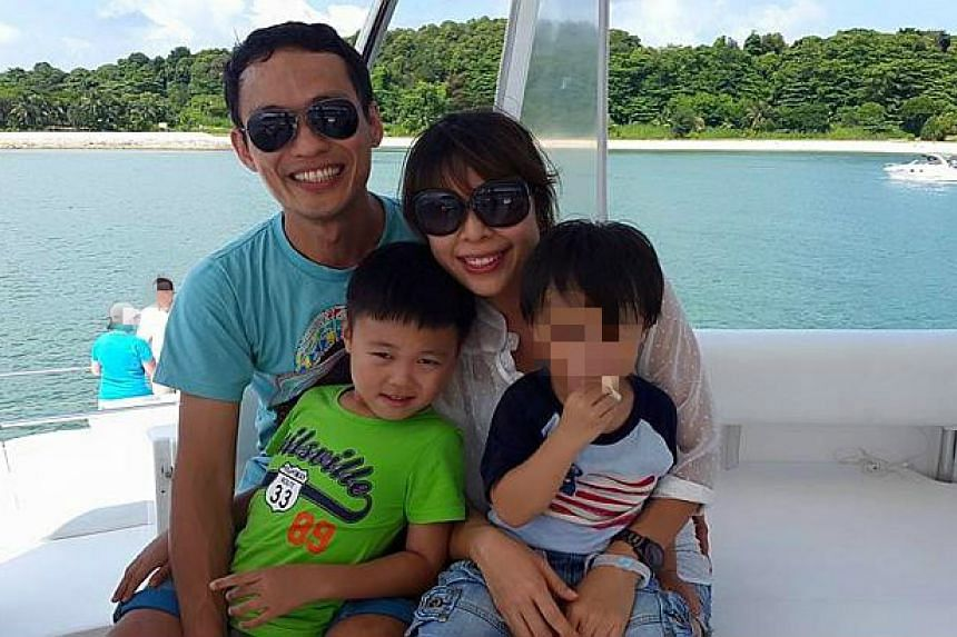 The four-year-old survivor's (right) parents and brother died after their car collided into another vehicle near Kota Tinggi.