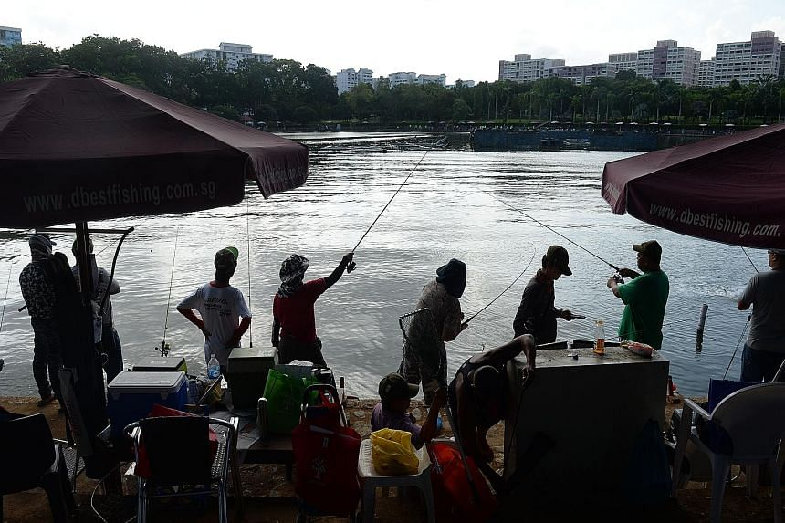 They're hooked on fishing, but they've caught onto charity work as well. About 200 anglers took part in a charity fishing event at Pasir Ris Central yesterday to reel in more than $50,000 for good causes. The Fish for Food event held by the Singapore