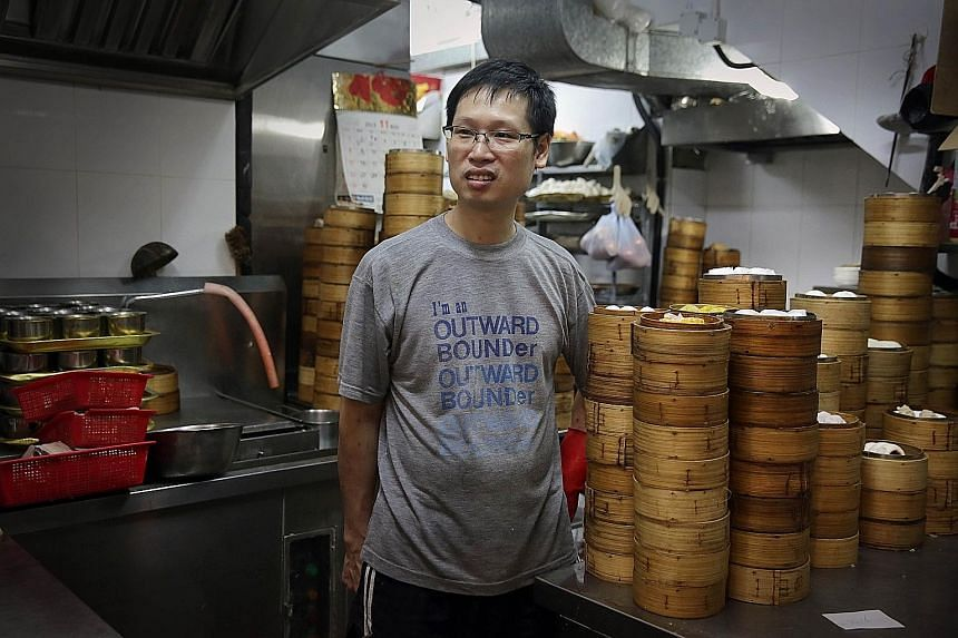 Mr Chui Kwok Hing in the kitchen of Sun Hing restaurant, where he starts his day at 1.30am. He is following in the footsteps of his 85-year-old father, making dimsum from scratch.