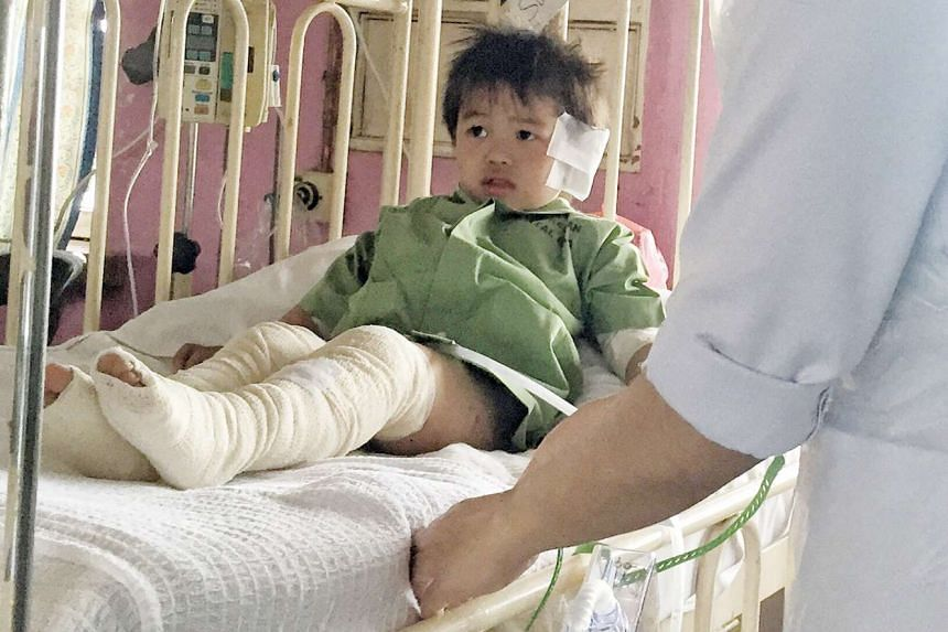 Three-year-old Evan Lim, who suffered second- and third-degree burns on his legs, will now be cared for by his maternal grandparents.