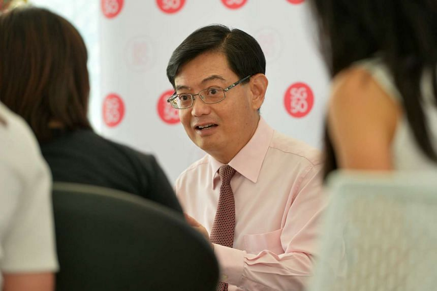 Finance Minister Heng Swee Keat at the Future Of Us exhibition on Dec 3, 2015.