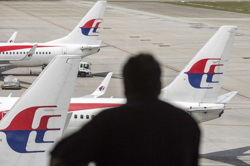 Aircraft operated by Malaysian Airline System Bhd. (MAS) on the tarmac at Kuala Lumpur International Airport.