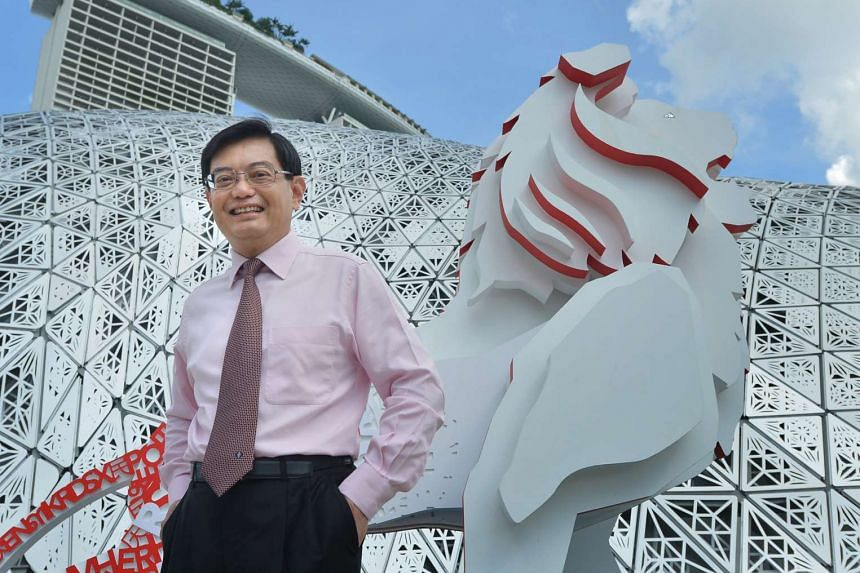 Minister of Finance Heng Swee Keat at the Future Of Us exhibition at the Gardens By The Bay on Dec 3.