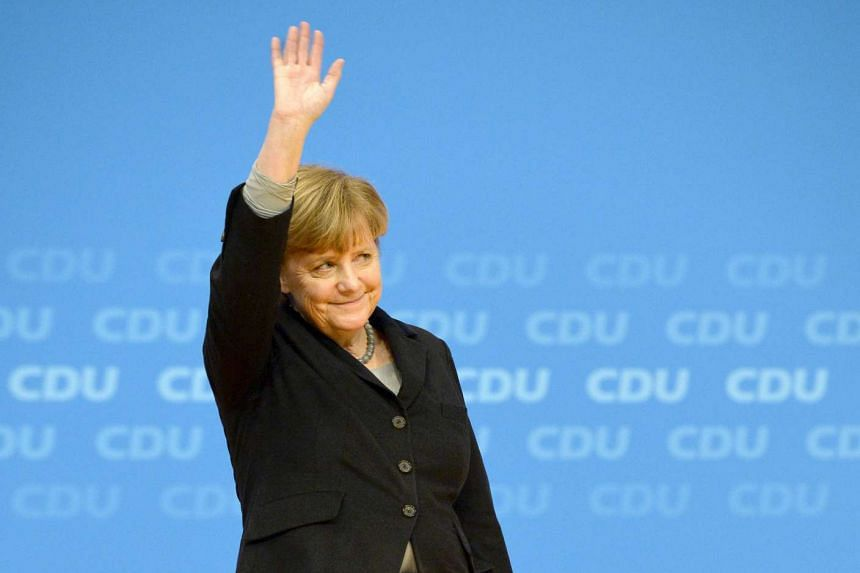 Dr Angela Merkel at the CDU annual federal congress in Karlsruhe, Germany.