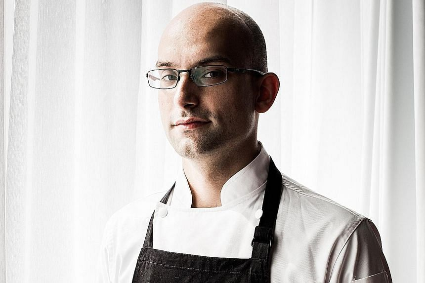 Shime-iwashi is one of the dishes on the menu of the dinners helmed by chefs Ivan Brehm (above) and Shinobu Namae.