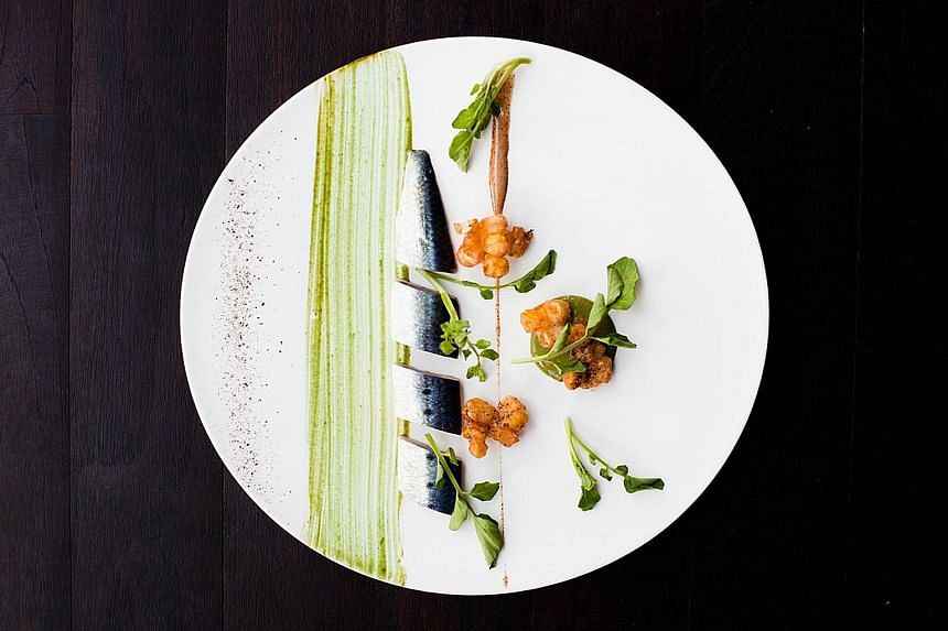 Shime-iwashi (above) is one of the dishes on the menu of the dinners helmed by chefs Ivan Brehm and Shinobu Namae.