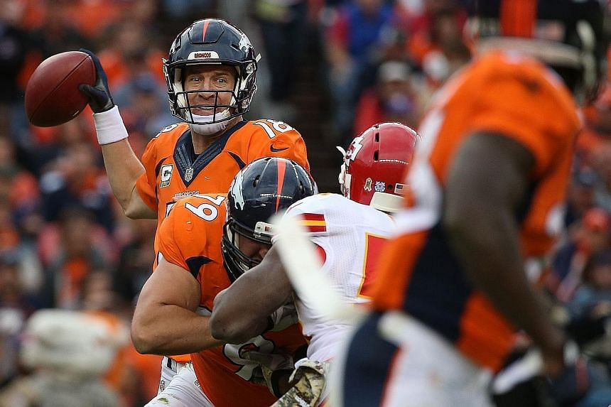 """Peyton Manning of the Denver Broncos has said an Al-Jazeera investigative report alleging that he is linked to the use of human growth hormone is """"complete garbage and totally made up""""."""