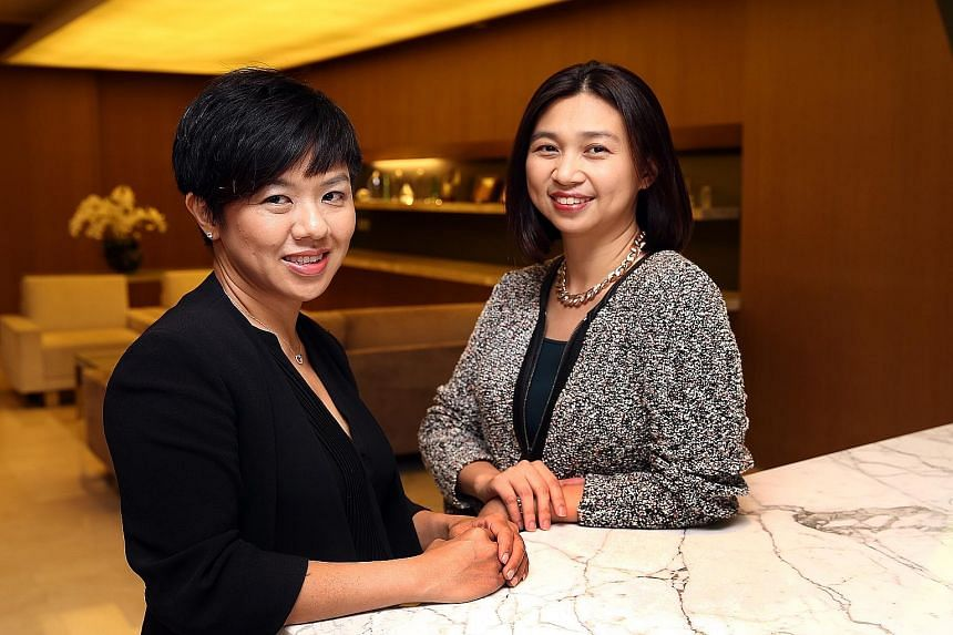 Ms Tsin (far left) and Ms Yui have seen Wong- Partnership's employment practice grow in seven years from two specialist lawyers to more than 12 now.