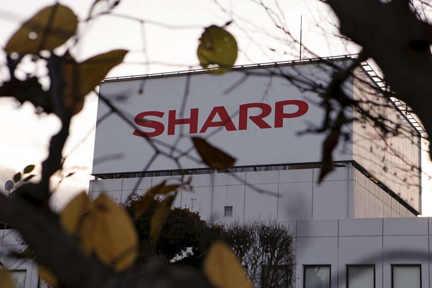 The logo of Sharp Corp is seen at Tochigi plant in Yaita, north of Tokyo, on Nov 19, 2015.