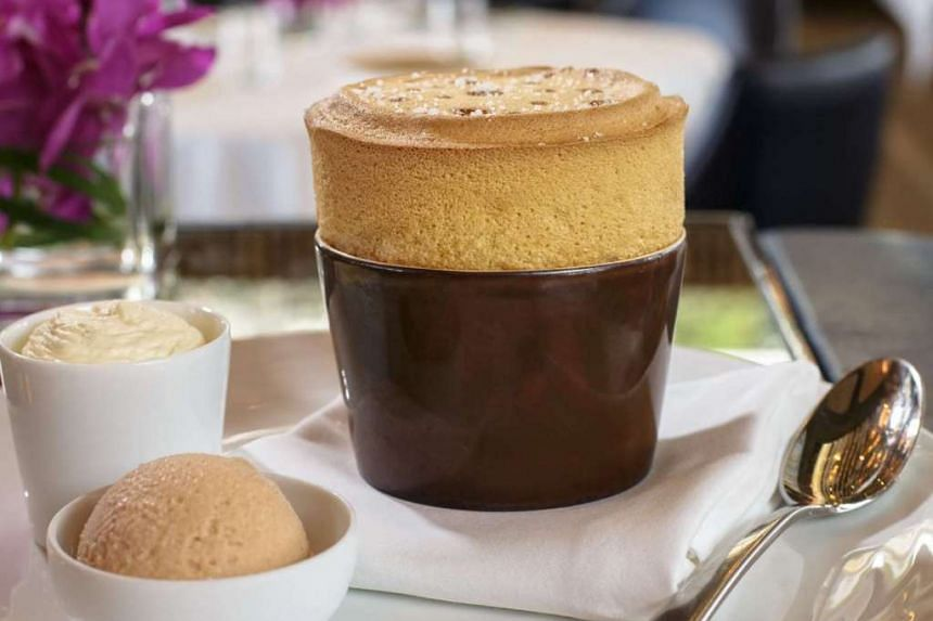 Spago's Salted Caramel Souffle. PHOTO: SPAGO