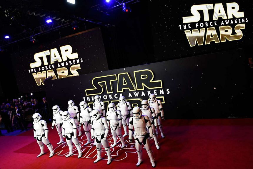 Stormtroopers pose for photographers at the European Premiere of Star Wars, The Force Awakens in Leicester Square, London.
