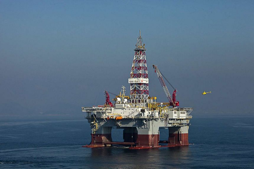 A deep-sea drilling rig owned by Keppel Offshore and Marine.
