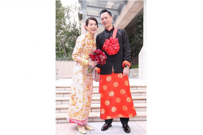 Myolie Wu and Philip Lee's wedding in Hong Kong on Dec 28, 2015.