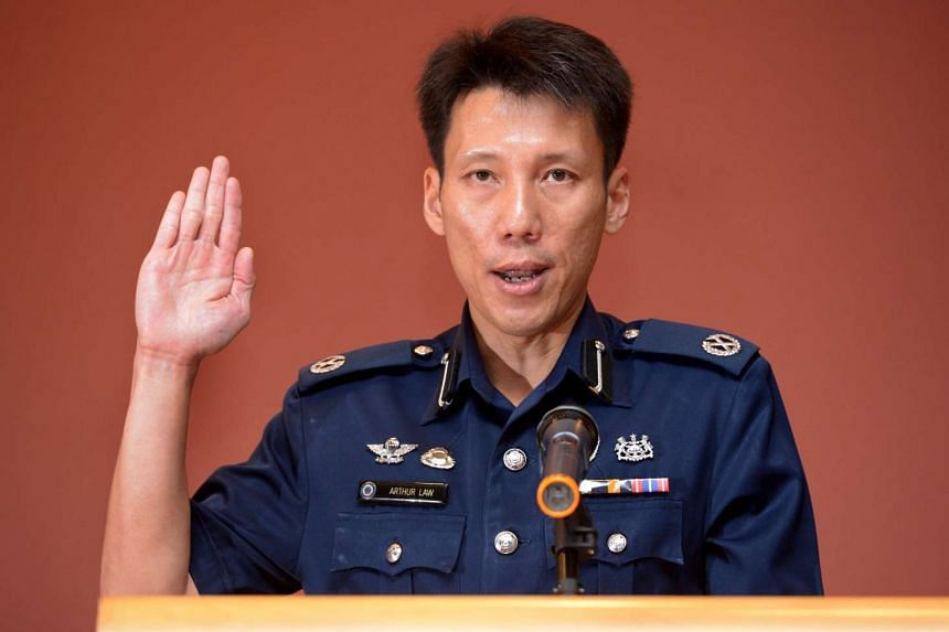 Deputy Assistant Commissioner Arthur Law Kok Leong at the Change of Command ceremony on Dec 29, 2015.