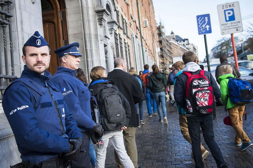 Belgian police arrested two people who were suspected of plotting a New Year's Eve attack in Brussels.